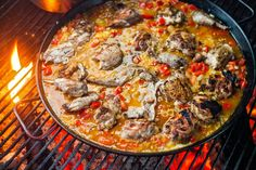 Paella, by Land and Sea ~ Like Southern barbecue or Texas chili, paella carries cultural as well as culinary significance. Every Spanish cook worth his or her jamón knows the one and only correct way to make it, which is of course the way it was made in his or her family. In such situations, it's best to go light on the authenticity and concentrate on what made the dish popular in the first place, which is that it makes a great party. #Paella #NYTimes