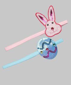 Look at this #zulilyfind! Pink & Hot Pink Bunny Headband Set by D.M. Merchandising #zulilyfinds
