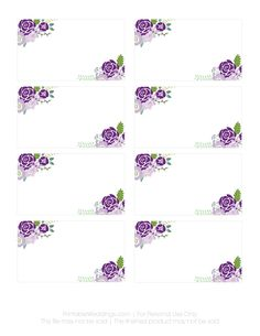 printable for place card and for candy bar