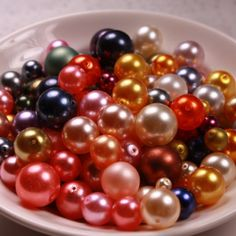 Round Glass Pearl Beads   316mm Various Colors by designjuncture, $4.00