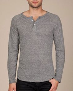 AA1938 Alternative Unisex 4.4 oz. Long-Sleeve Raglan Henley at Amazon Men's Clothing store: Henley Shirts