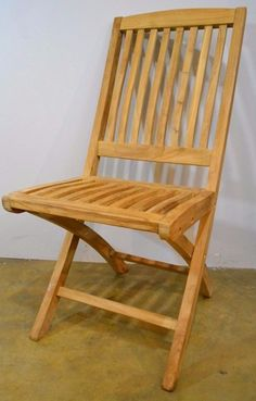 Patio Folding Chair from Solid Teak Wood