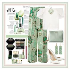 """""""Rolling In The Green"""" by onesweetthing on Polyvore featuring Christian Pellizzari, Lucille, Jimmy Choo, Kate Spade, Gucci, Armani Beauty, Pixi, Smith & Cult, Tory Burch and PearLustre by Imperial"""