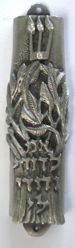 Pewter Mezuzah with Kosher Scroll  Jewish Wedding Mezuzah >>> Click image to review more details.