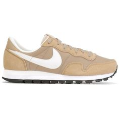 Nike Air Pegasus 83 Sneakers ($68) ❤ liked on Polyvore featuring shoes, sneakers, lace up shoes, laced up shoes, nike trainers, suede lace up shoes and nike