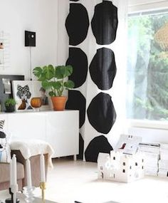 Marimekko – Home & Fashion Design - Shop Online No Sew Curtains, Home Curtains, Curtains With Blinds, Cozy Living, Home And Living, Marimekko Fabric, Scandinavia Design, Lino Prints, Block Prints