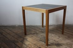 leather-topped side table