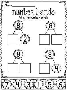Number bonds worksheets and activities that are super fun and differentiated to practice making numbers