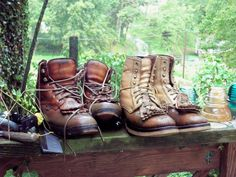 Recycling old boots Old Boots, Hiking Boots, Combat Boots, Recycling, Autumn, My Style, Shoes, Fashion, Moda
