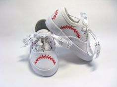 Baseball Shoes, Hand Painted Sneakers, Sports Theme, Boys or Girls, Baby or Toddler