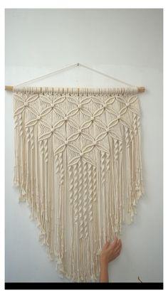 Macrame Wall Hanger, Macrame Wall Hanging Patterns, Macrame Curtain, Large Macrame Wall Hanging, Macrame Art, Macrame Design, Macrame Projects, Macrame Patterns, Tapestry Weaving