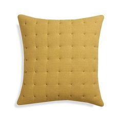 "Pelham Yellow 20"" Pillow  | Crate and Barrel 2 Pillows"