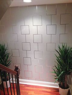 How to create an Aluminum tape feature wall from Deeva Designs