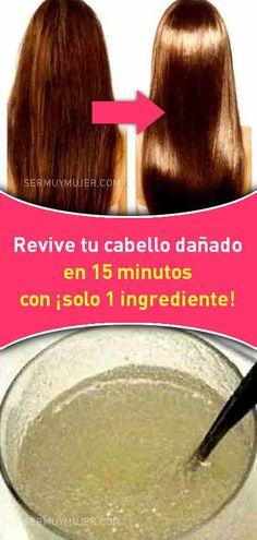 Revive tu cabello dañado en 15 minutos con ¡solo 1 ingrediente! Hair Mask For Growth, Hair Growth Tips, Healthy Style, Healthy Hair, Beauty Secrets, Beauty Hacks, Beauty Care, Hair Beauty, Oil Treatment For Hair