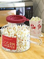Glass Microwave Corn Popper - 2.5QT No Oil Popcorn Maker | Solutions