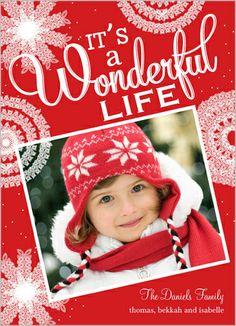 Wonderful Life Flurries 5x7 Stationery Card by Hello, Kelle | Shutterfly