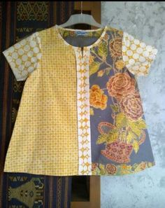 Mix Blouse Batik Blazer, Blouse Batik, Batik Dress, Batik Fashion, Ethnic Fashion, Blouse Styles, Blouse Designs, Amarillis, Batik Kebaya