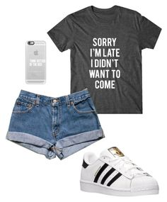 """Sorry"" by ariel-1017 on Polyvore featuring adidas and Casetify"