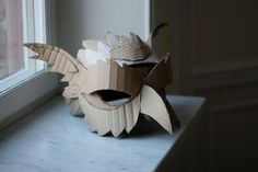great set of Alice in Wonderland masks out of cardboard for a school play
