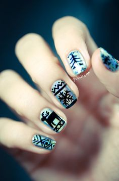 ugly sweater nails!