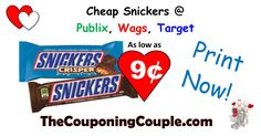 CHEAP SNICKERS BARS! Print your coupons and get them as low as 9¢. There's some awesome deals at Publix, Wags, Target, or use at Walmart with their regular price!  Click the link below to get all of the details ► http://www.thecouponingcouple.com/cheap-snickers-bars/ #Coupons #Couponing #CouponCommunity  Visit us at http://www.thecouponingcouple.com for more great posts!