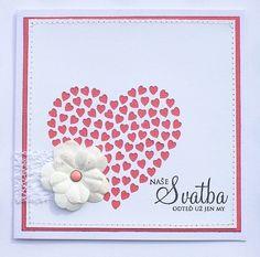Blahopřání ke svatbě Srdce růžové