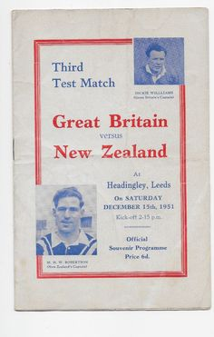 #England v new zealand 1951 rugby league test at #leeds #great britain australia,  View more on the LINK: http://www.zeppy.io/product/gb/2/292010796966/