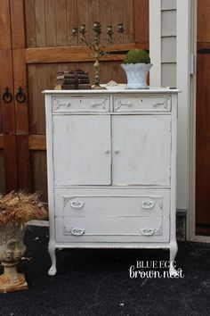 chalk painted armoire