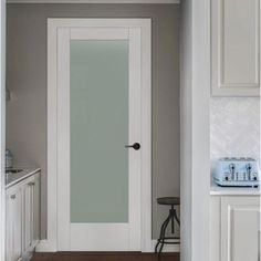 JELD-WEN 32 in. x 96 in. Moda Primed White 1-Lite Solid Core Wood Interior Door Slab with Translucent Glass Panel-THDJW221100030 - The Home Depot