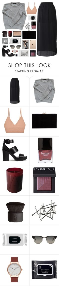 """i am sick to see you"" by novalikarida ❤ liked on Polyvore featuring American Apparel, For Love & Lemons, Charlotte Olympia, H&M, Enchanté, Butter London, NARS Cosmetics, Nikon, MAC Cosmetics and Polaroid"