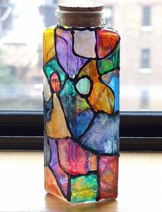 need to figure out how to do this...  fun project for a stained glass window  :)