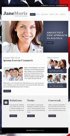 Website Template Tomas O Hara Politician Political Organization - Political website templates