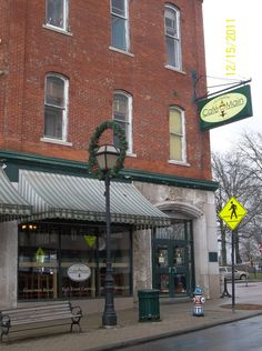 Cafe on Main in Downtown Mansfield, Ohio