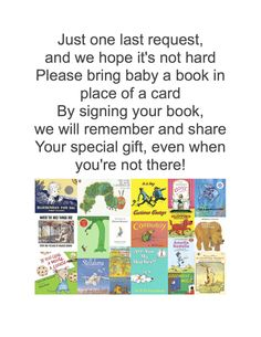 Bring a Book instead of a Card, Baby Shower Ideas