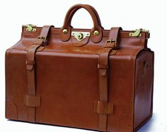 """Commonly known as a """"Gladstone Bag"""", this magnificent object is more correctly called a """"Kit Bag""""."""