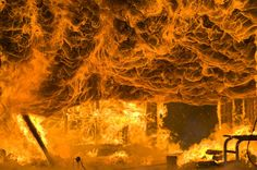 Inside structure Fire