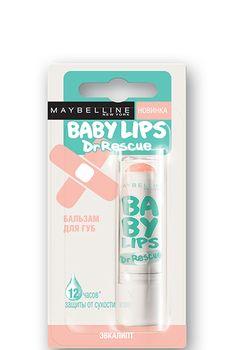 Baby Lips Dr Rescue - Эффективное питания изащита отсухости. Мягкая текстура, постоянное увлажнение издоровый цвет.