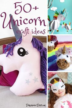 Adorable and easy unicorn crafts and ideas for all ages including toddlers to teens and adults! Even seasonal unicorn crafts are included - Christmas, Easter Halloween. Unicorn Hobby Horse, Unicorn Egg, Unicorn Pumpkin, Unicorn Wall Art, Unicorn Pillow, Cute Unicorn, Unicorn Party, Unicorn Jewelry, Unicorn Headband