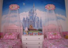 Innovative Disney Princess Bedroom Ideas Pink Princess Room Ideas For Your Lovely Daughter Ferib Princess Nursery Theme, Disney Princess Bedroom, Princess Room Decor, Princess Bedrooms, Disney Bedrooms, Princess Mural, Cool Kids Bedrooms, Teenage Girl Bedrooms, Girls Bedroom