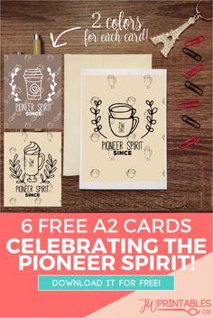 A2 Pioneer Spirit Greeting Cards – Free Printable! #jw #jworg | JW Printables