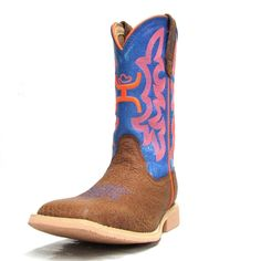 Twisted X Youth HOOey Neon Blue Square Toe Boots YHY0001 Square Toe Boots, Blue Square, Kids Boots, My Boys, Cowboy Boots, Youth, Neon, Shoes, Fashion