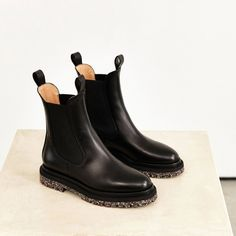 Leather Chelsea Boots   Dear Frances Weather Day, Leather Chelsea Boots, Slow Fashion, Autumn Winter Fashion, Winter Style, Italian Leather, Black Boots, Designer Shoes, Black Leather