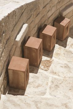 Step, path lamp in natural terracotta. Suitable for energy saving bulbs. Design by Niccolò Grassi. Step, lampada segnapasso in terracotta naturale. Adatta a lampadine a risparmio energetico. Design by Niccolò Grassi. #Ethimo #design #architecture #outdoor #furniture #lighting #garden #luxury #outdoordesign #ideas #inspiration #style