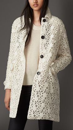 Burberry London Embroidered Lace Coat | LOVE LOVE LOVE THIS  #lace