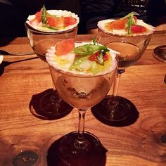 """""""Nantucket Bay Scallops on the shell on top of half a glass of Manzanilla style Sherry at Barcelona Stamford"""" - @jjvalverde"""