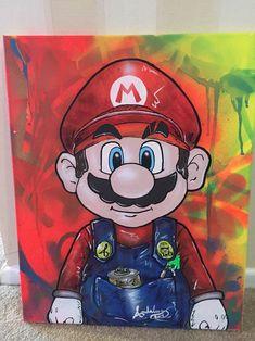 #Mario Street Art Painting