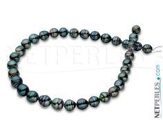 Collana di Perle di Tahiti barocche - perle di Tahiti - perle nere - gioielli di…
