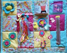 Birds and Flowers and Butterflies OH MY ! Fidget Blanket