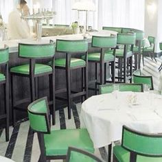 Soane Britain's Simplified Klismos Dining Chairs and Bar Stools at Cecconis, London. Commercial Design, Commercial Interiors, Klismos Dining Chair, Dining Chairs, Dining Rooms, Cafe Design, Interior Design, Soho House, Elements Of Style