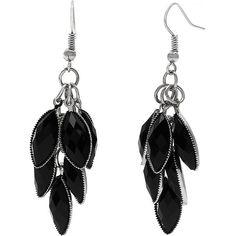 Alexa Starr Metallic Cluster Earrings (870 RUB) ❤ liked on Polyvore featuring jewelry, earrings, accessories, black, earring jewelry, metallic jewelry, cluster jewelry and cluster earrings
